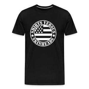SVS Flag Logo - Boxy Fit Premium Short-Sleeved T-Shirt - Men's Premium T-Shirt