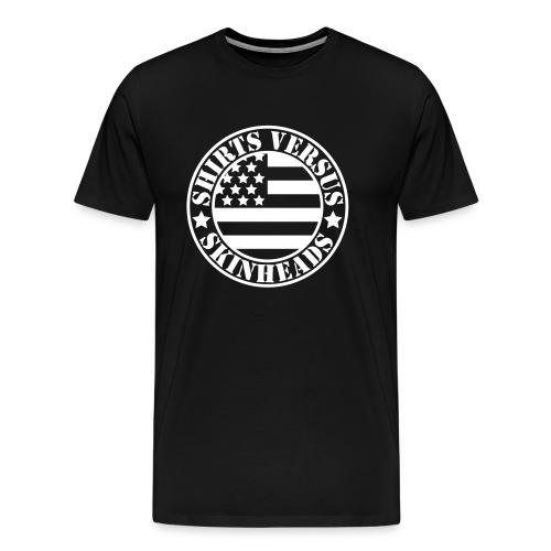 SVS Flag Logo - Boxy Fit Premium Short-Sleeved T-Shirt - Men's Premium T-Shirt