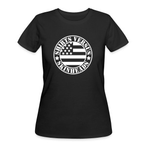 SVS Flag Logo - Curvy Fit Short-Sleeved T-Shirt - Women's 50/50 T-Shirt