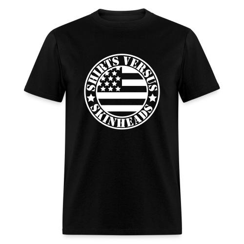SVS Flag Logo - Boxy Fit Short-Sleeved T-Shirt - Men's T-Shirt