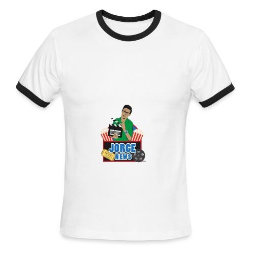 Men's Ringer T Shirt JORGE NEWS : white/black - Men's Ringer T-Shirt