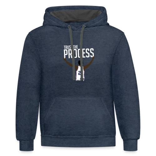 Trust the Process Contrast Hoodie - Contrast Hoodie