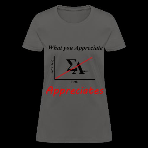 Women's What you Appreciate - Women's T-Shirt