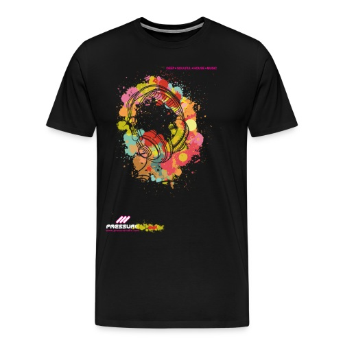 Pressure Floral Headphones - All colours - Men's Premium T-Shirt