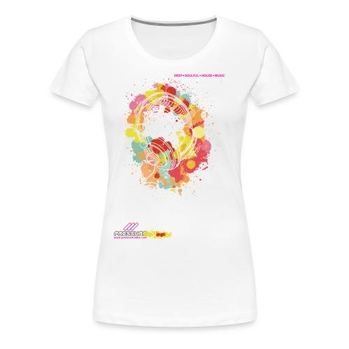 Ladies Pressure Floral Headphones - All colours - Women's Premium T-Shirt