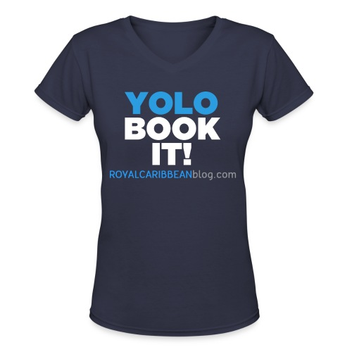 YOLO Book It! Women's V-Neck Shirt - Women's V-Neck T-Shirt