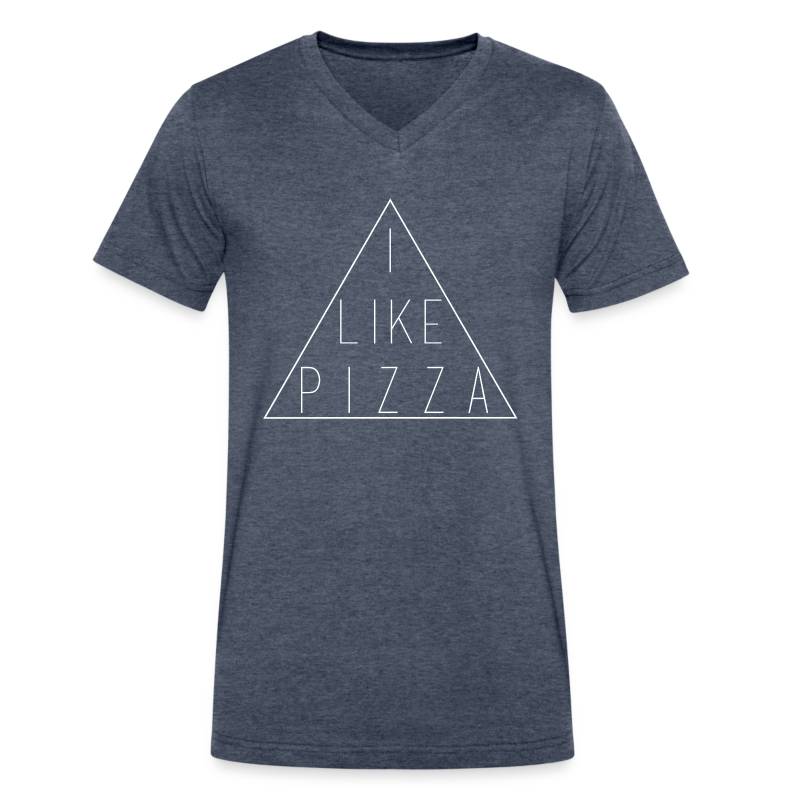 ILIKEPIZZAS.png - Men's V-Neck T-Shirt by Canvas