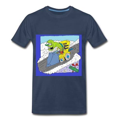 Snow Plow Cactus Driver - Men's Premium T-Shirt