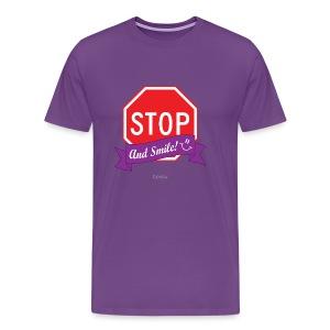 Stop (And Smile) Men's Premium T-Shirt - Men's Premium T-Shirt