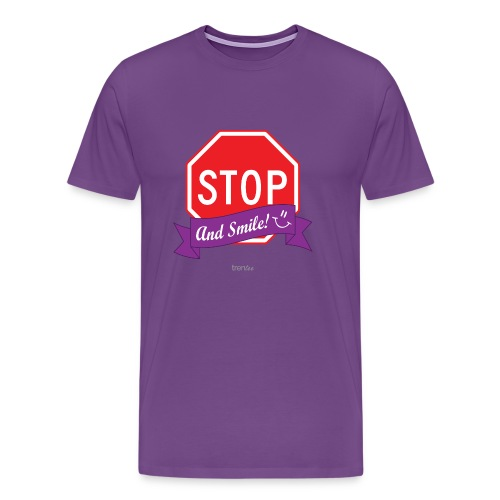 Stop (And Smile) Men's Premium T-Shirt - Men's Premium T-Shirt