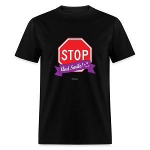 Stop (And Smile) Men's T-Shirt - Men's T-Shirt