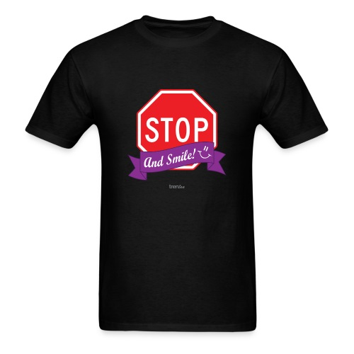 Stop (And Smile) Men's T-Shirt - Men's T-Shirt