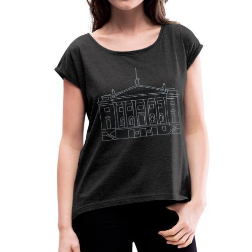 Berlin State Opera (silver) - Women's Roll Cuff T-Shirt