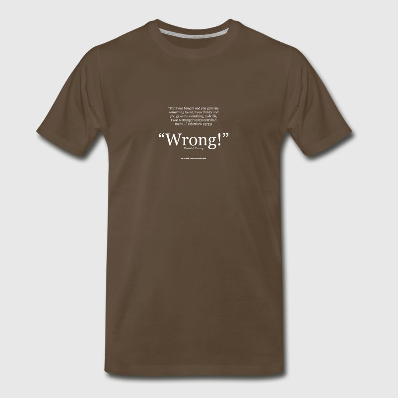 Matthew 25:35 - Men's Premium T-Shirt