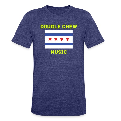 DCM Mens vintage style Chicago Flag Tshirt - Unisex Tri-Blend T-Shirt by American Apparel