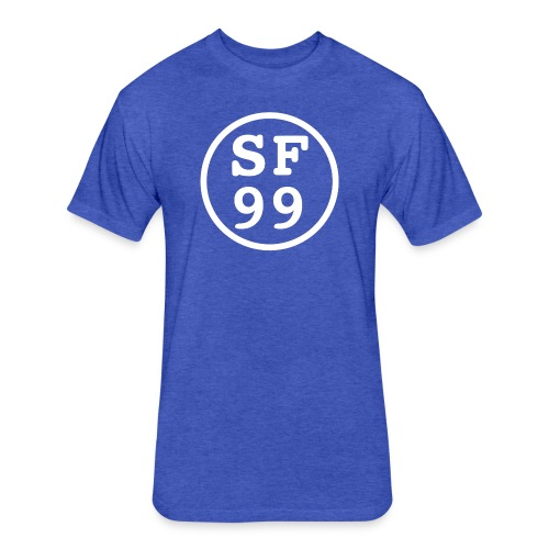 Blue - Fitted Cotton/Poly T-Shirt by Next Level