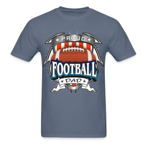 Proud Football Dad - Men's T-Shirt