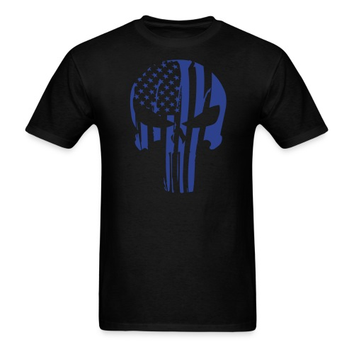 Merica Skull Tee (Blue Logo) - Men's T-Shirt