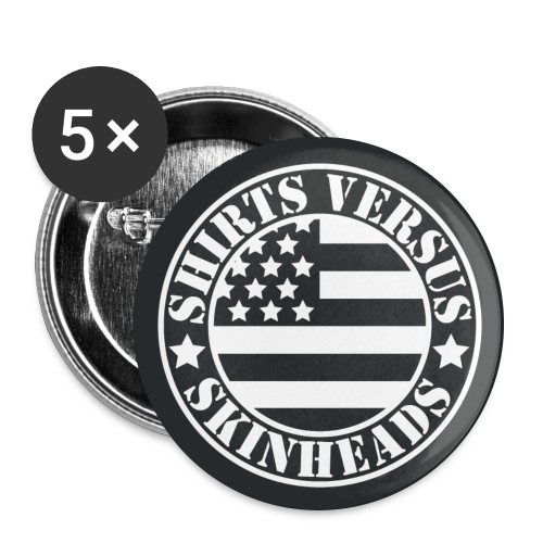 SVS Flag Logo on Five 2.25 Buttons - Large Buttons