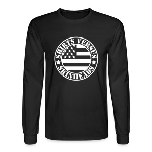 SVS Flag Logo - Boxy Fit Long-Sleeved T-Shirt - Men's Long Sleeve T-Shirt