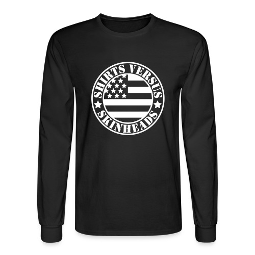SVS Flag Logo - Boxy Fit Long-Sleeved T-Shirt - Men's Long Sleeve T-Shirt