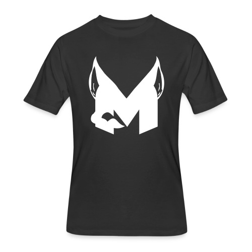 mens black and white muro logo 50/50 tshirt - Men's 50/50 T-Shirt