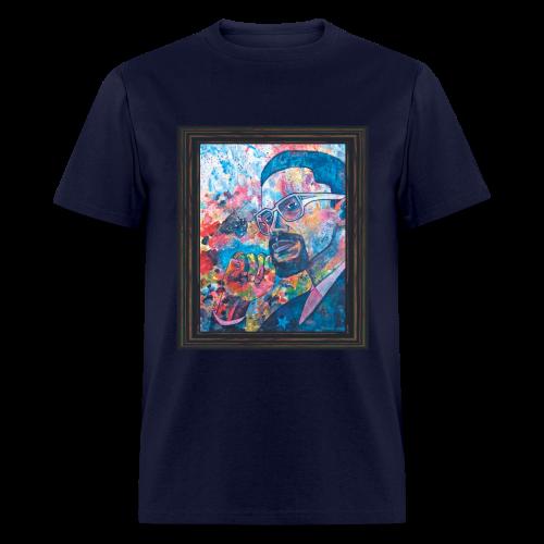 Malcolm X by Sherwin Long - Men's T-Shirt