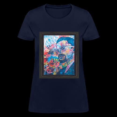Malcolm X by Sherwin Long - Women's T-Shirt