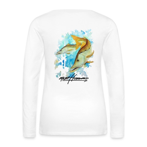 Women's Premium Linesider Long Sleeve Shirt - Women's Premium Long Sleeve T-Shirt