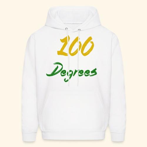 White '100 Degrees' Hoodie - Men's Hoodie