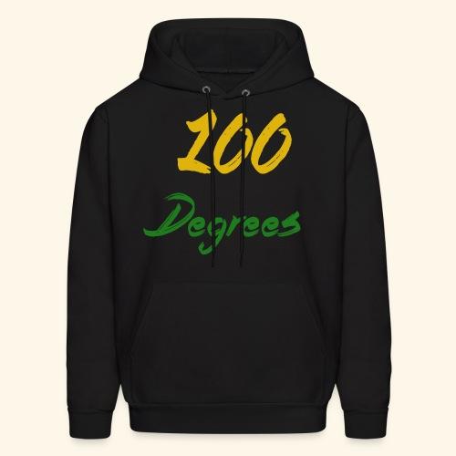 Black '100 Degrees' Hoodie - Men's Hoodie