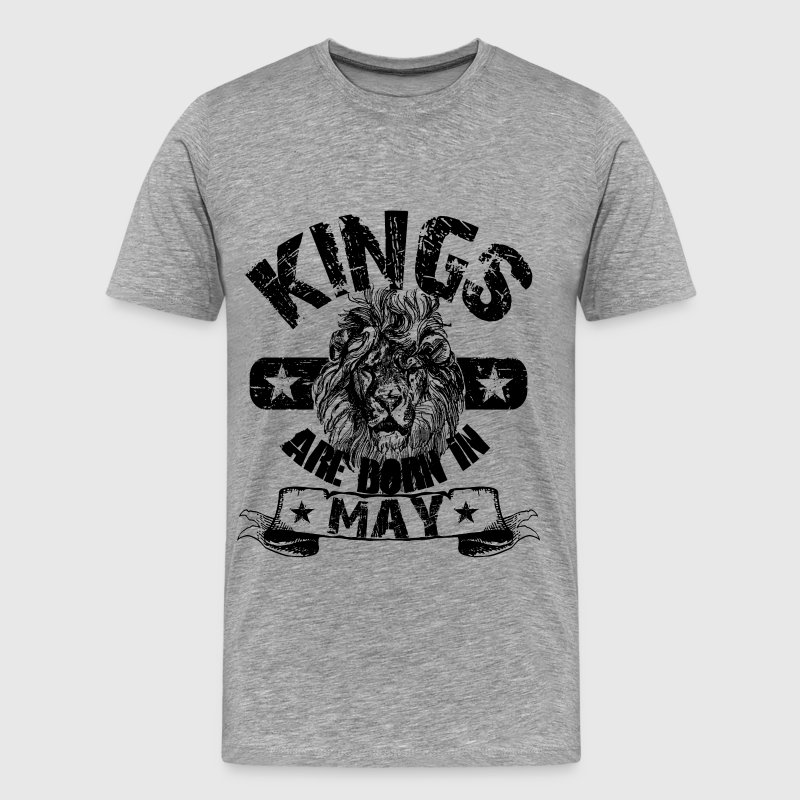 Kings Are Born In May T-Shirts - Men's Premium T-Shirt