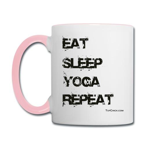 Eat Sleep Yoga Repeat Coffee Mug - Contrast Coffee Mug