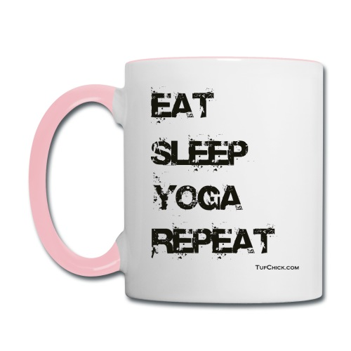 Eat Sleep Yoga Repeat Coffee Mug - Contrast Coffee Mug