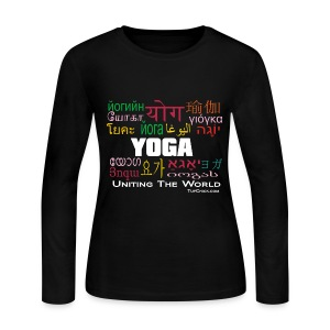 Yoga - Uniting the World Women's Long Sleeve Shirt - Women's Long Sleeve Jersey T-Shirt
