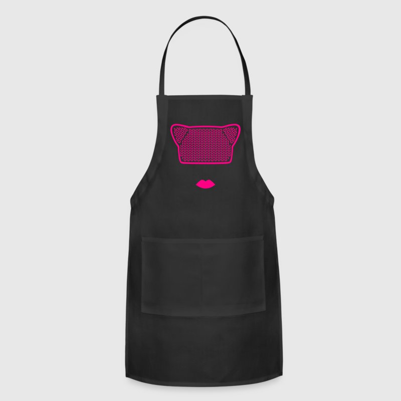 Pink Pussy Cat Hat / Beanie Aprons - Adjustable Apron