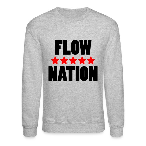 Flow Nation 5 Stars Sweatshirt (Men's) - Crewneck Sweatshirt