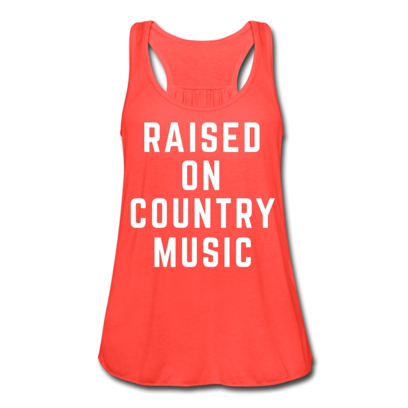 Raised on Country Music - Tank - Women's Flowy Tank Top by Bella
