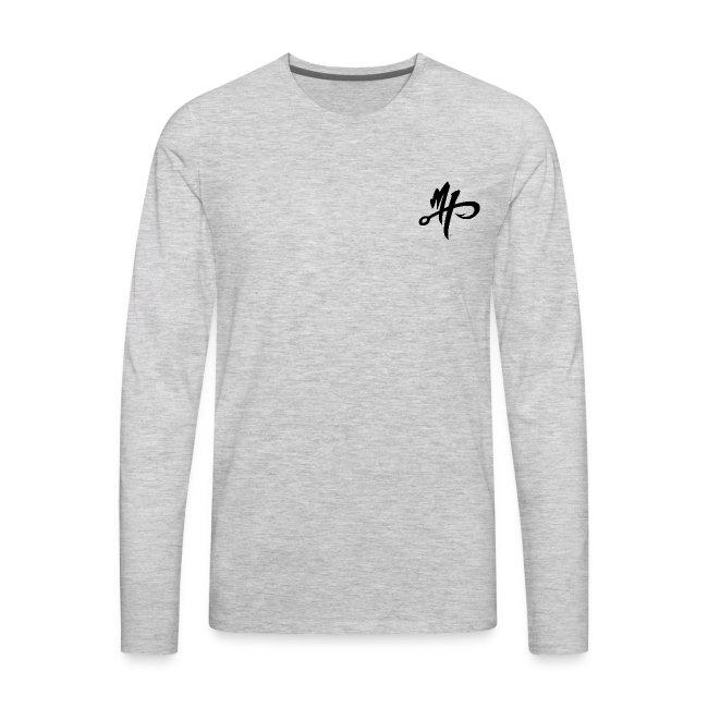 Men's Premium Silver Smoker Long Sleeve Shirt
