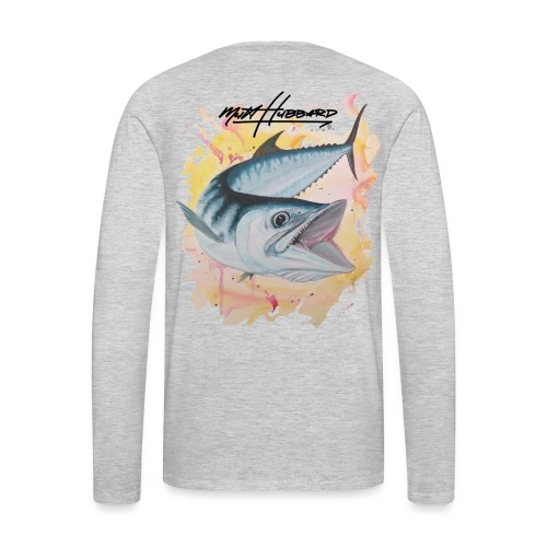 Men's Premium Silver Smoker Long Sleeve Shirt - Men's Premium Long Sleeve T-Shirt