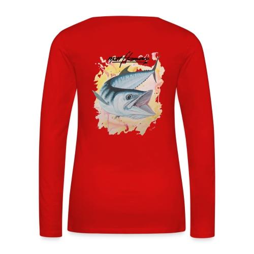 Women's Premium Silver Smoker Long Sleeve Shirt - Women's Premium Long Sleeve T-Shirt