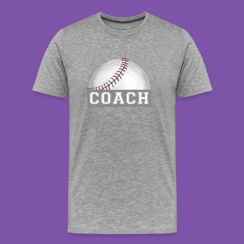 Baseball Coach Art - Men's Premium T-Shirt