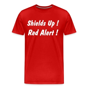 Shields Up! Red Alert ! - Men's Premium T-Shirt