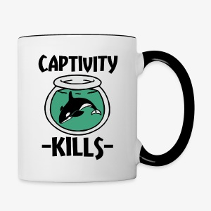 Captivity Kills Save the Orca Whales  - Contrast Coffee Mug