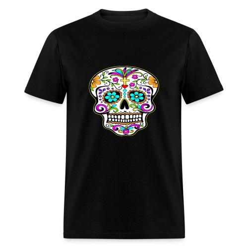 JyeNa Inc. Tattooed Skull - Men's T-Shirt
