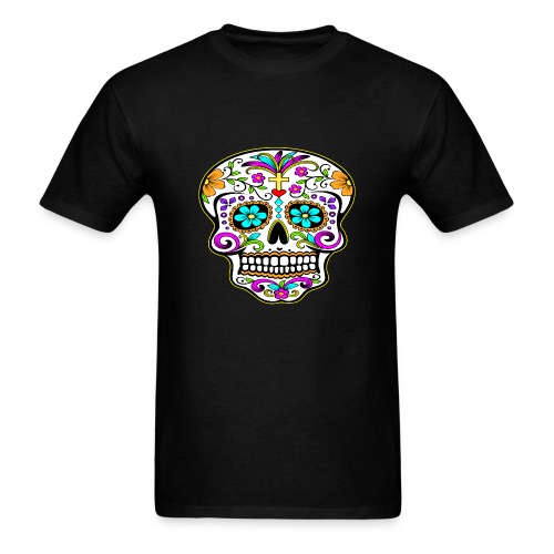 JyeNa Inc. Tattooed Skull - Men's T-Shirt