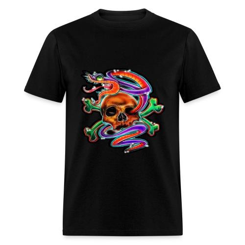 JyeNa Inc. Skull & Snake - Men's T-Shirt