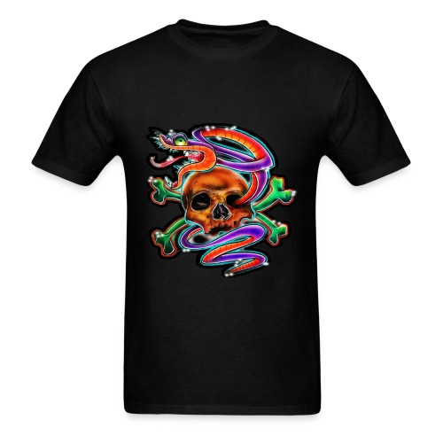 JyeNa Inc. Skull & Snake - Men's T-Shirt