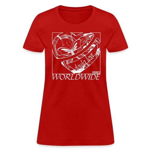 Doula Love Worldwide Heart - Women's T-Shirt