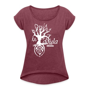 Tree of Life Branches - Women's Roll Cuff T-Shirt